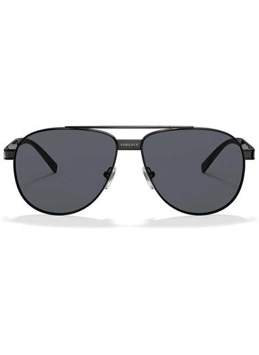 Versace Versace 2209 100987 58 Ekartman Unisex Güneş Gözlüğü Siyah